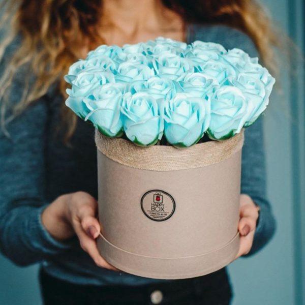 Заказать букет из мыльных роз голубой в Нижнем Новгороде