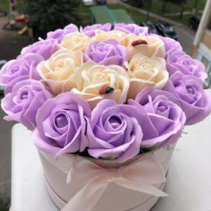 Букет из мыльных роз комбинированный